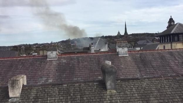 Fire breaks out in Lancaster city centre   Granada - ITV News