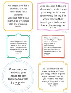 Printable! Joy Scriptures - TriciaGoyer.com