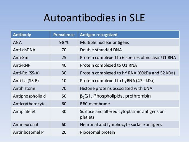 Most Frequent Sle Antibodies Con Imagenes Enfermedades Autoinmunes