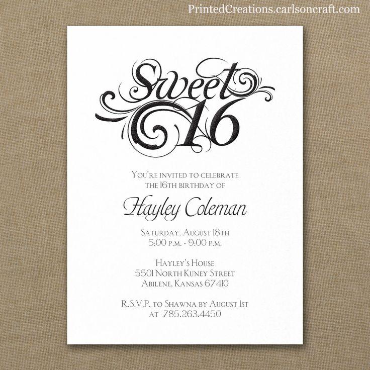 Best 20+ Sweet 16 invitations ideas on Pinterest | Sweet ...
