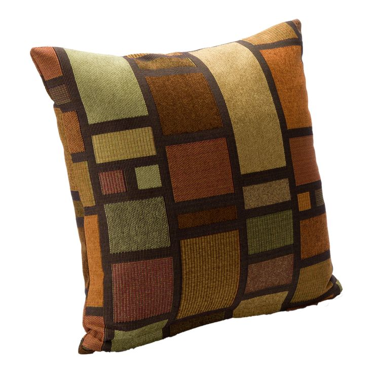 Throw Pillow Deals : SIScovers Soho Contemporary Accent Pillow (20 x 20) (20 x 20), Multi (Cotton, Color Block ...