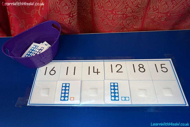 Share:Children can practise numbers to 20 at the maths table with this numicon matching game. I've taped the boards to… more →