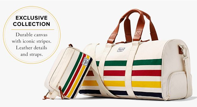 Finally the duffle I've been waiting for, and only $150., made by Herschel, too. Let's go!