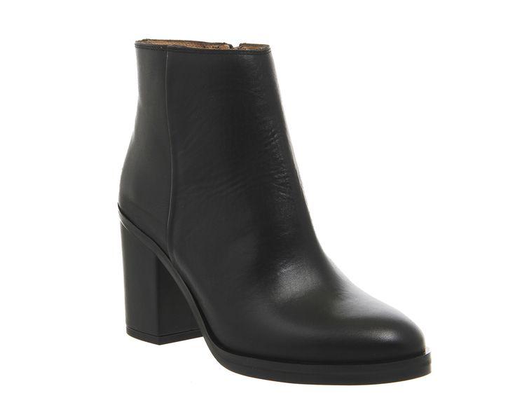 Ivory Block Heel Boots