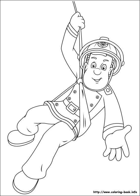 Fireman Sam coloring picture