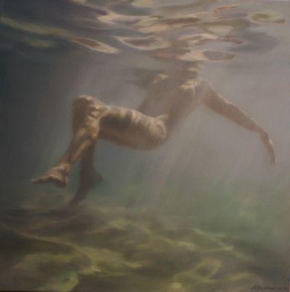 © Martine Emdur ~ Bask ~ 2010 oil on canvas at Olsen Irwin Gallery Sydney Australia