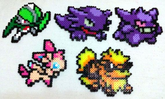 Pokemon Perler  All Original 150 Available by Dragonstring on Etsy
