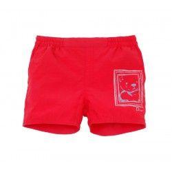 Short de bain rouge