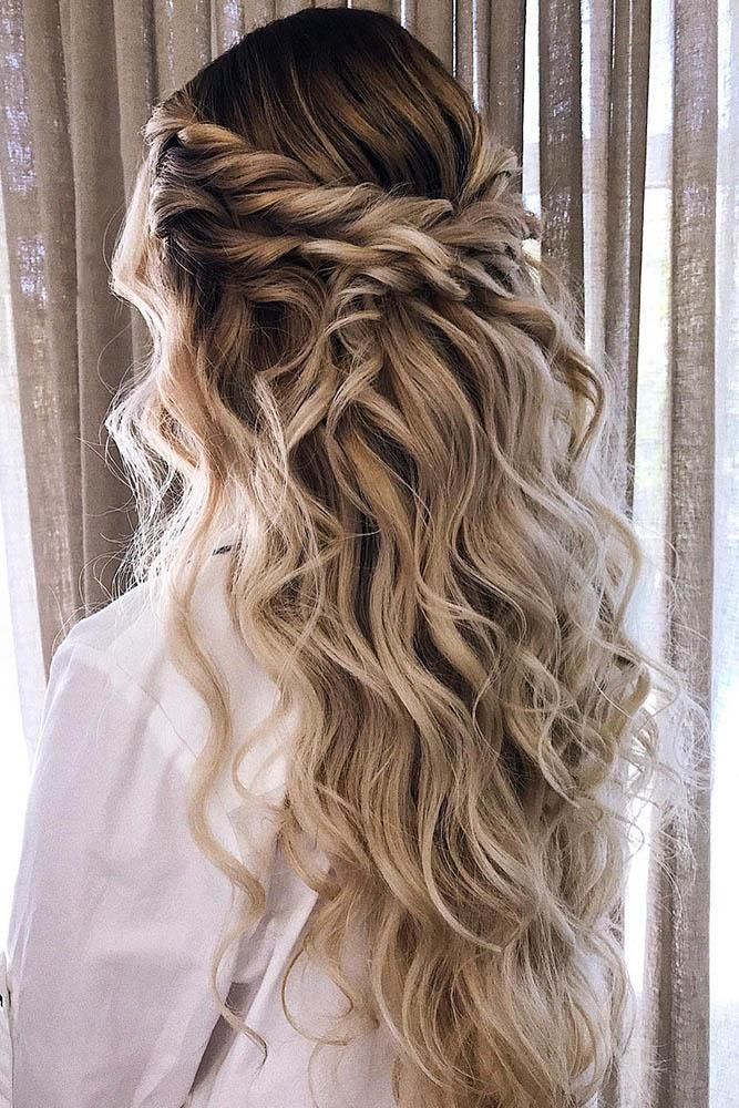42 Boho Wedding Hairstyles To Fall In Love With Wedding Forward In 2020 Boho Wedding Hair Wedding Hair Half Blonde Wedding Hair