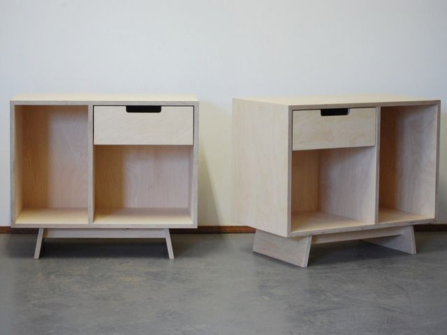 Sparrow Bedsides By Raw Edge Furniture   Plywood, Bedside Tables, Bed Side  Tables,