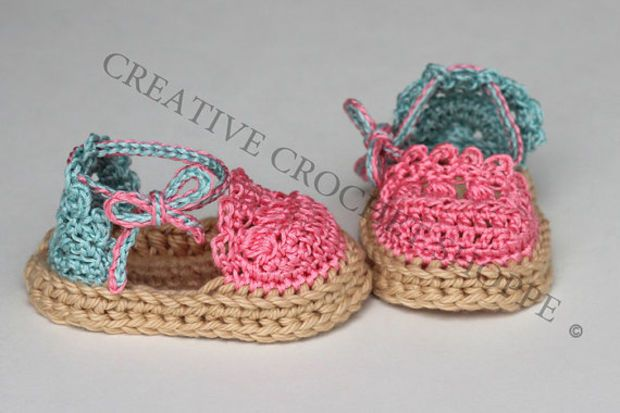 Cotton Candy Swirl Baby & Toddler Girl Espadrilles (Crochet baby shoes, Gender reveal, Baby shower gift, Summer shoes, First birthday)
