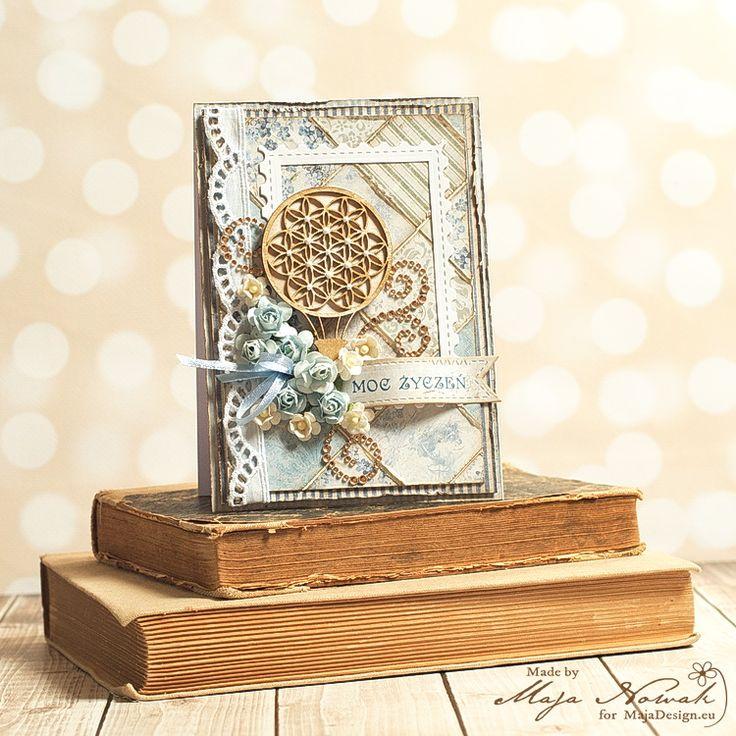 CraftHobby Oliwiaen: Best wishes card. Kartka okolicznościowa