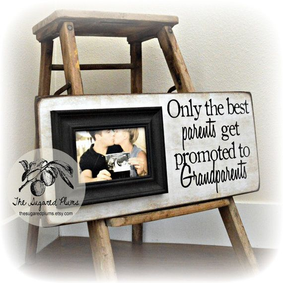 Pregnancy Announcement Ideas, Baby Announcement, Pregnancy Reveal, New Grandma, New Grandparents, First Grandchild, The Sugared Plums 8x20 on Etsy, $65.00