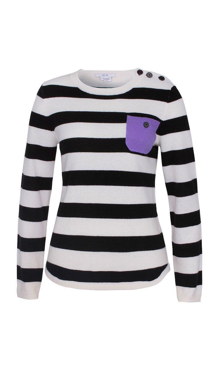 Brio black and white striped sweater | Carlisle Collection | Per Se | Collections | Lookbook | Per Se | Holiday 2013 | 4