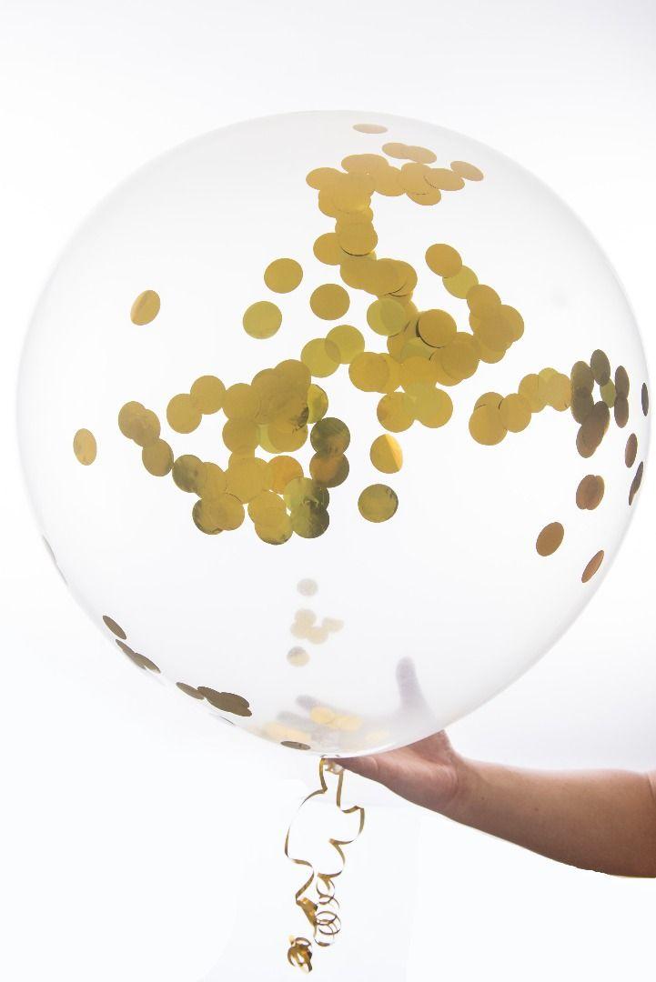 gold confetti balloons baby shower bridal shower wedding balloons