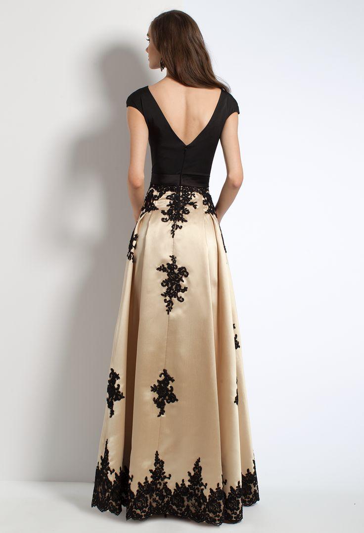 Mikado Bridesmaid Dress With Lace Applique #camillelavie