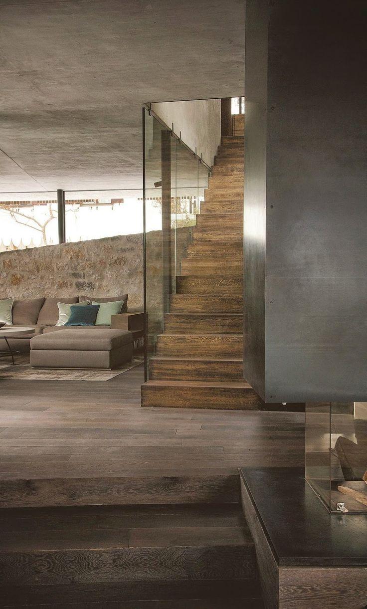 Jurnal de design interior - Amenajări interioare : Modern și minimal într-o cabană din Austria
