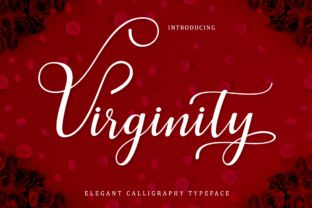 http://Virginity Script is a fresh, stylish decorative handwritten font. This calligraphic-style font features a dancing baseline and looks great on personal-themed designs.