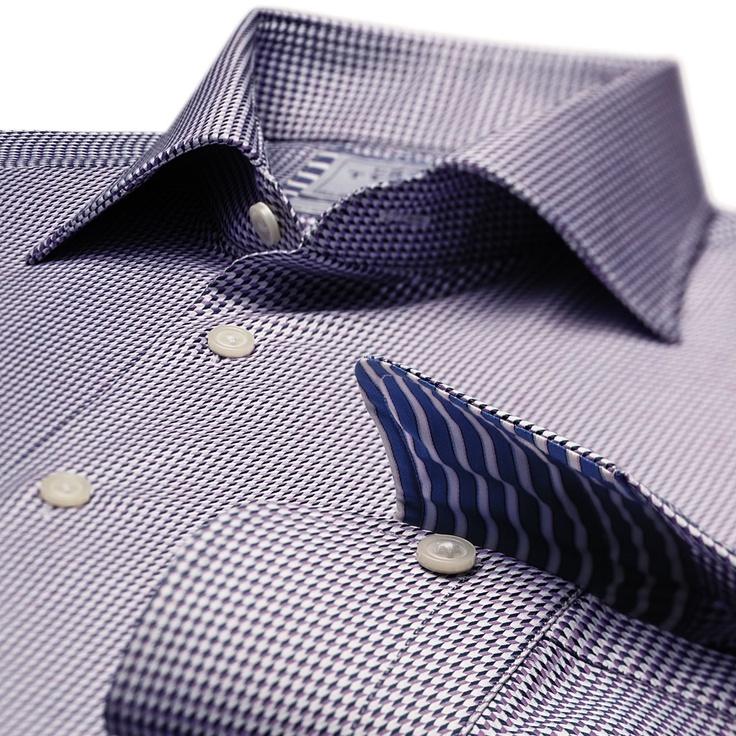 Newnham purple puppytooth business casual slim fit shirt for Mens dress shirts charles tyrwhitt
