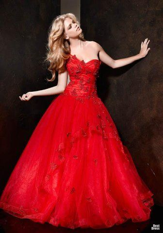 Going Away Gown Red Butterfly Wedding Dress Alessandro Couture 2013