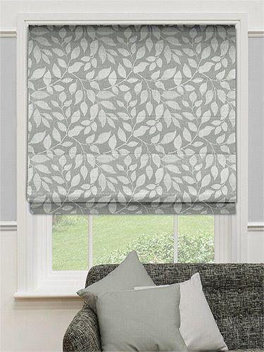 Toscana Pearl Grey Roman Blind  Drapery   Grey roman blinds Kitchen blinds Roman blinds