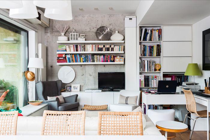 light, concrete, cosy, Bucharest apartment