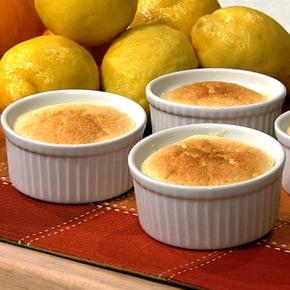 Yummy! Carla's Lemon Pudding Cake with Orange Liqueur.