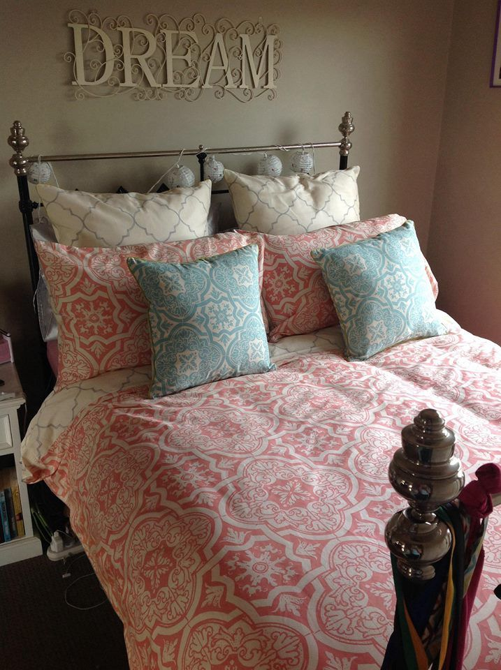 OK so this photo clinched it for me. Rambla looks so gorgeous on Melita's bed I have just had to order it for my own. Not sure I should be thanking fellow consultant Denise Squire _ Lorraine Lea Linen Independent Consultant or not