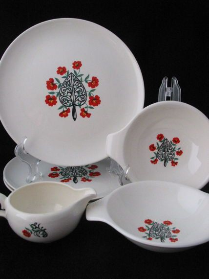 1950s Taylor Smith and Taylor 6 Piece Set with by FoxyFineVintage, $27.00