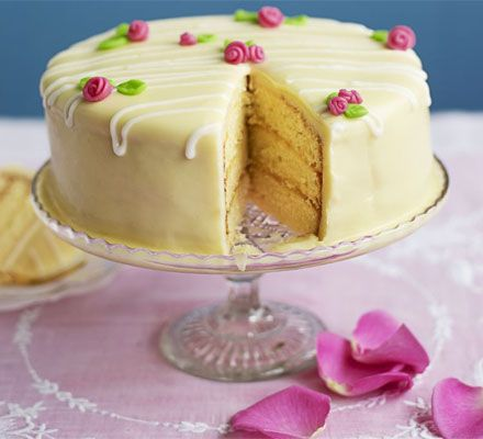 Lemon fondant cake. The ultimate occasion cake, this beautiful indulgence will be the star of Easter or any other celebration.