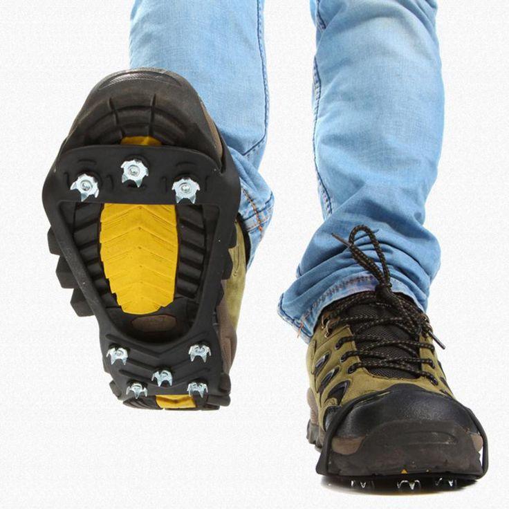 1 Par Caliente 10 Espárragos Invierno Caminando Cornamusa Hielo Gripper Anti Slip Hielo Nieve Ruta Camping Zapato Del Punto Grip Climb Hielo Crampon hielo