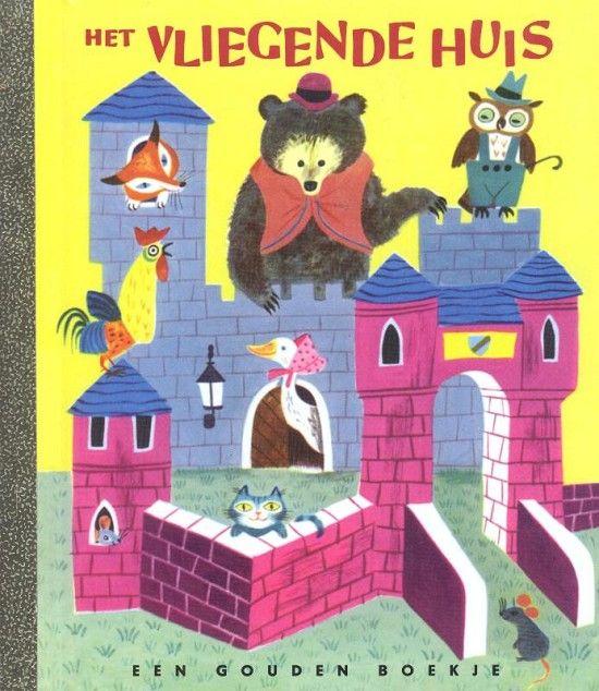 Het vliegende huis *** Gouden boekjes *** In dit Gouden Boekje leren kinderen van alles over hoe mensen en dieren wonen. Er zijn mooie tekeningen van konijnenholen, vogelhuisjes en paardenstallen. Maar hoe woont een clown en waar wonen bijen? Dan komt er een huis aanvliegen. Een heel bijzonder huis! Wie zou daar nu in wonen? Geschreven door Margaret Wise Brown Met tekeningen van J.P. Miller.