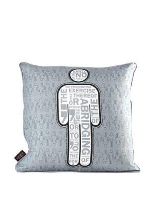 59% OFF Inhabit AM 1 Pillow, Gray & White