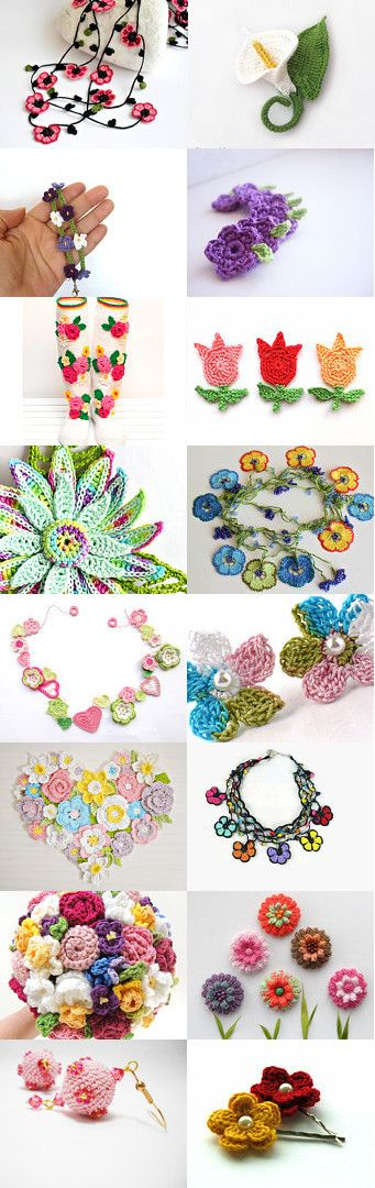 maRRose - CCC --- Treasury Tuesday: Spring Flowers Crochet by Marianne Dekkers-Roos on Etsy--Pinned+with+TreasuryPin.com