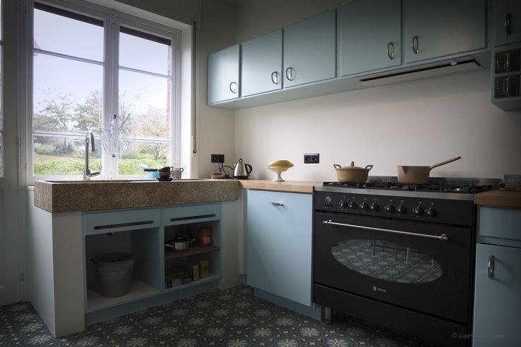 Retro Keuken: Strak ontmoet retro moderne keuken gecombineerd met oude ...