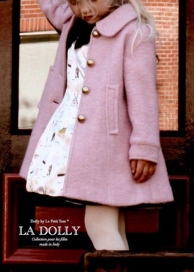 685 # europa Dolly feminino casaco de lã bebê menina cashmere casaco sobretudo