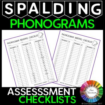 This product includes two assessment checklists for reading and writing of the Spalding Phonograms. Use them to assess and monitor your students knowledge of the phonograms throughout the year.