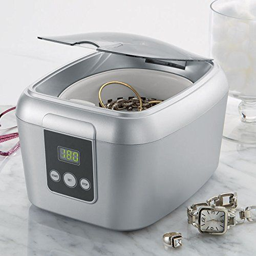The Ultrasonic Jewelry Cleaner helps you keep your favorite jewelry clean, no matter what kind of stain they bear. A perfect gift idea for your home. .#thatsweetgift