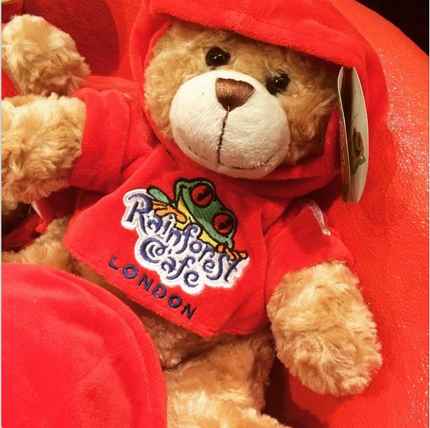 Our traditional Rainforest Cafe Teddy Bear!