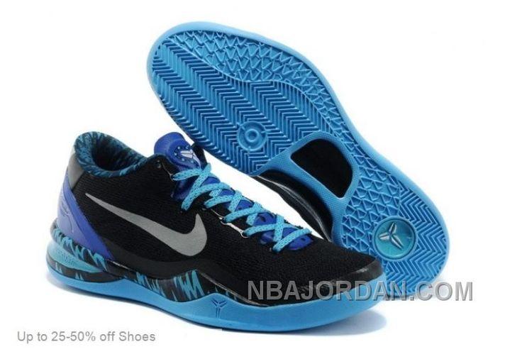 online retailer 2f99b 60c7c ... coupon code nike men kobe 8 system pp black silver royal blue  basketball shoes top deals ...