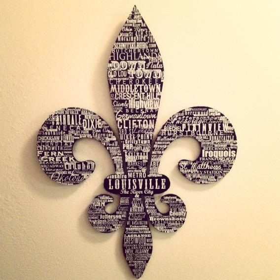Fleur de lis with louisville neighborhood names future for Louisville tattoo artists