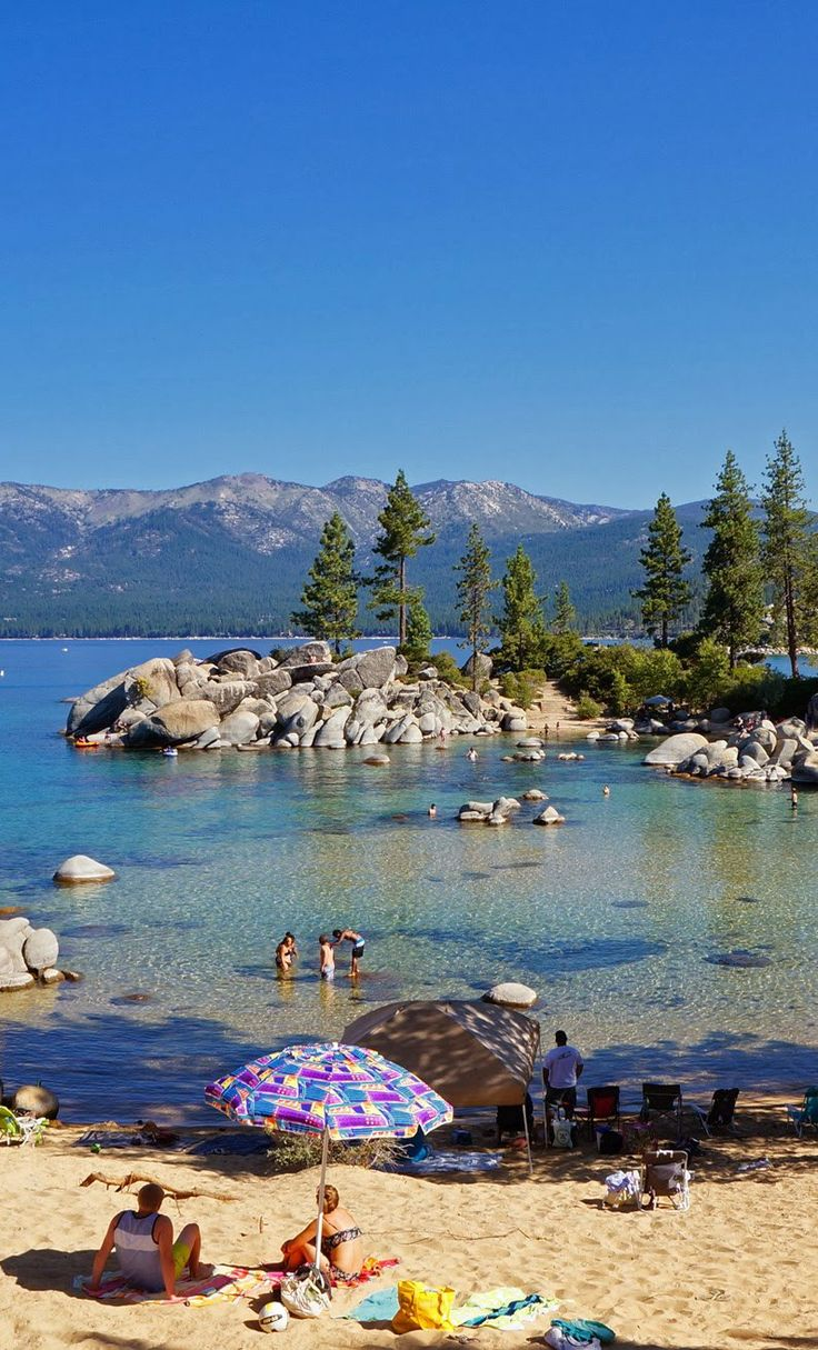 Sand Harbor. Lake Tahoe, Nevada. We got married on that big rock pile...
