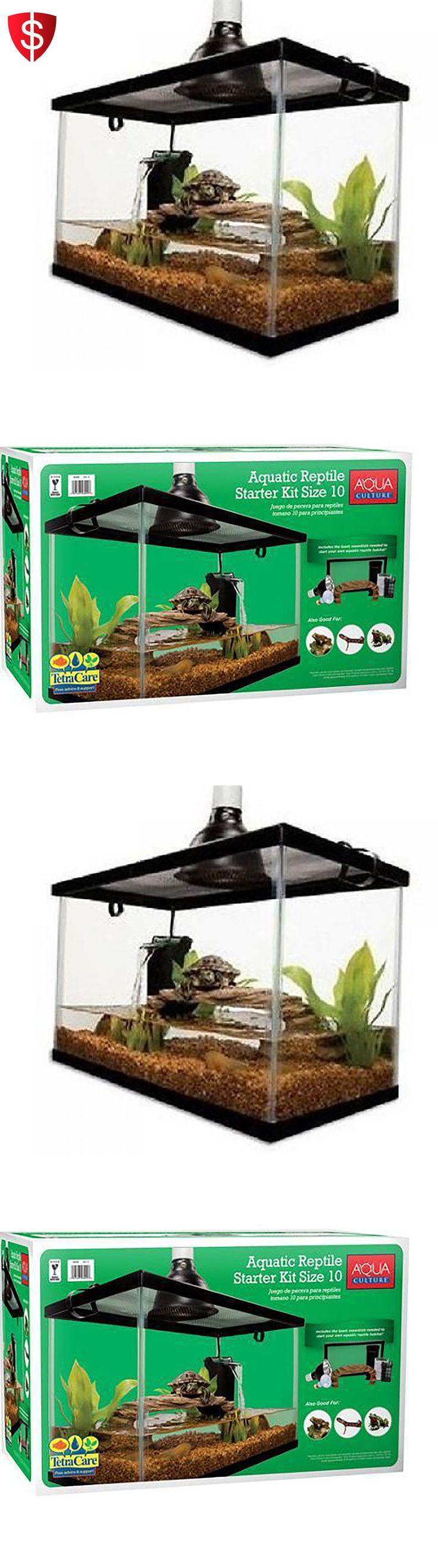 Reptile Supplies 1285: 10 Gallon Aquarium Tank Kit Reptile Turtle Frog Lizard Snake Exo Animal Habitat -> BUY IT NOW ONLY: $65.5 on eBay!