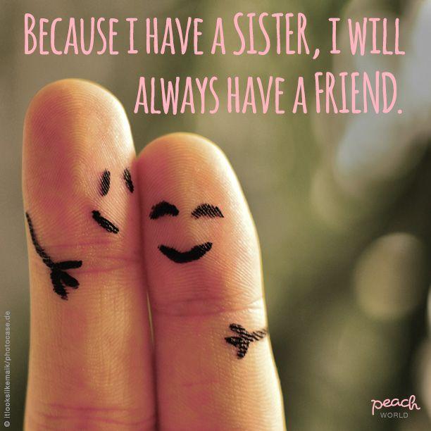 """Heute ist """"Tag der Schwestern"""" und natürlich verbringe ich den Tag mit meiner kleinen Schwester. Sie ist die beste Zuhörerin und in allen Lebenslagen für mich da."""