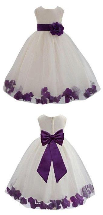 Best 25+ Purple flower girl dresses ideas on Pinterest