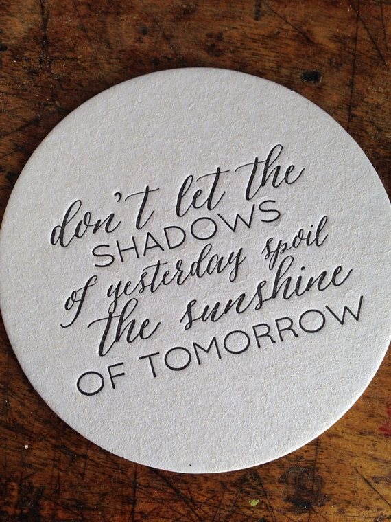 Letterpress Coasters- inspirational sayings