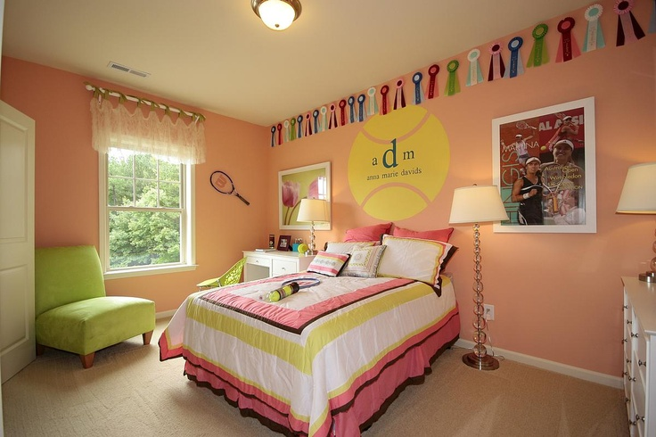 Cute Tennis Themed Room For A Kid 39 S Bedroom In The Showman Model Rooms