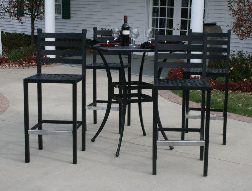 collection garden furniture accessories pictures. The Ansley Collection 4-Person All Welded Cast Aluminum Patio Furniture Bar Height Set With Garden Accessories Pictures J