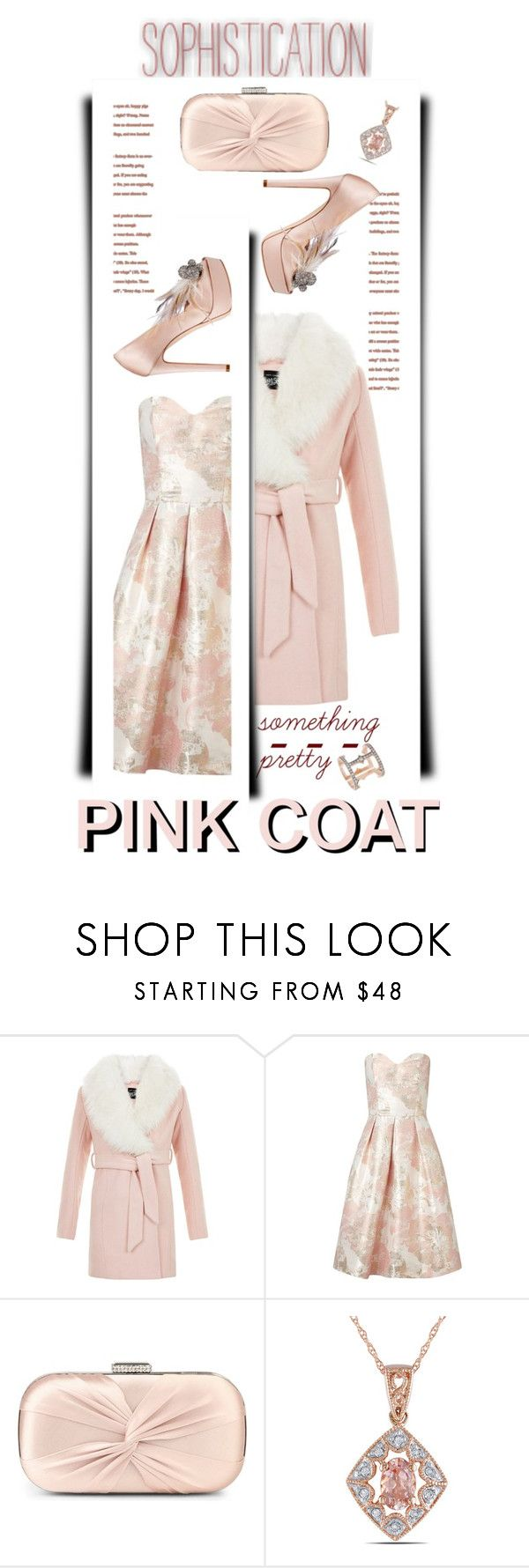 """PINK COAT"" by emcf3548 ❤ liked on Polyvore featuring New Look, Miss Selfridge, Carvela, Miadora, Sylva & Cie and pinkcoats"
