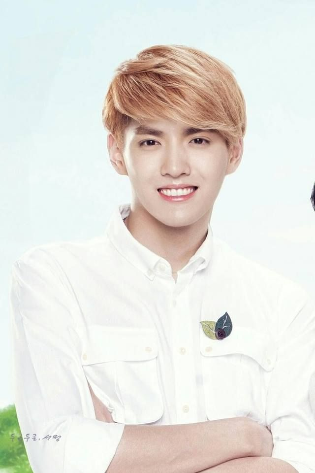 Kris Nature Republic scan. ^His smile is so beautiful! He should smile more